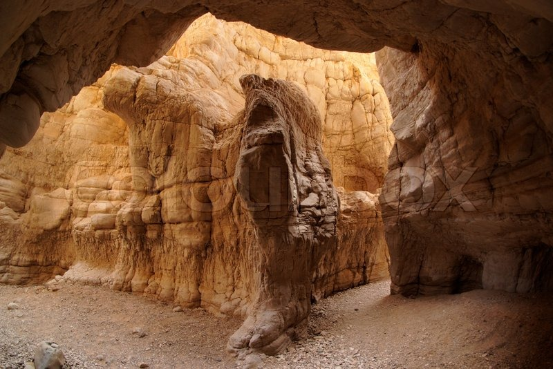 Quot Scenic Orange Cave In Desert Canyon Nahal Ogg Creek Near