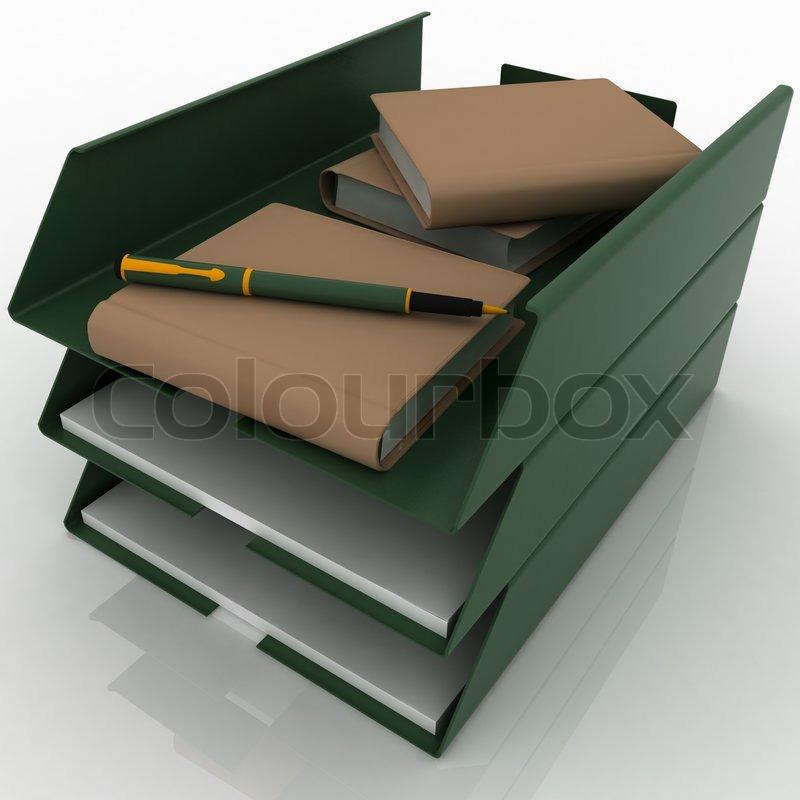 b ro f cher f r papiere stockfoto colourbox. Black Bedroom Furniture Sets. Home Design Ideas