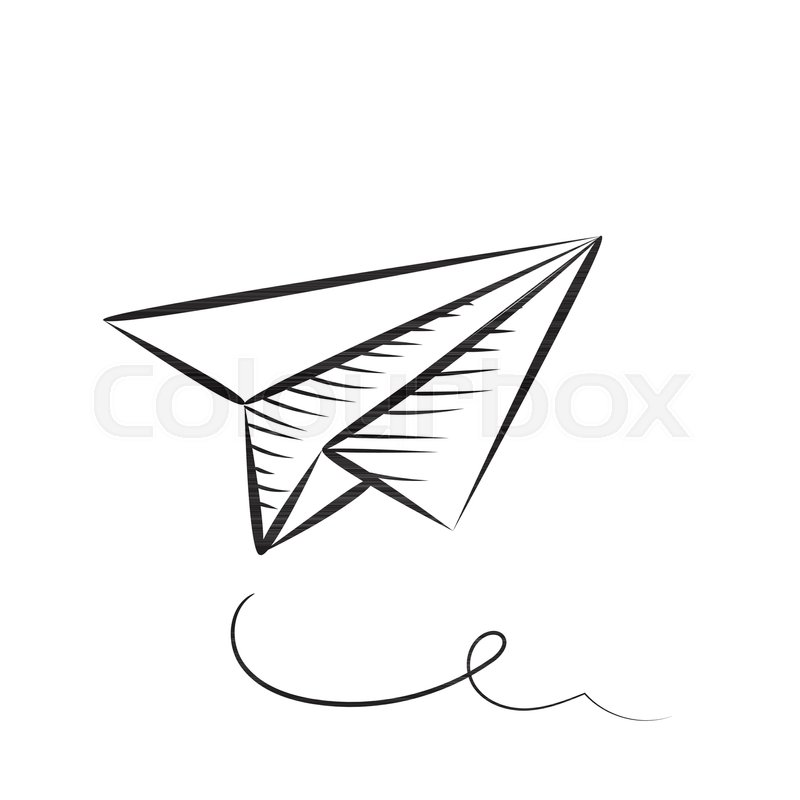 Sketched Paper Plane Vector Stock Vector Colourbox