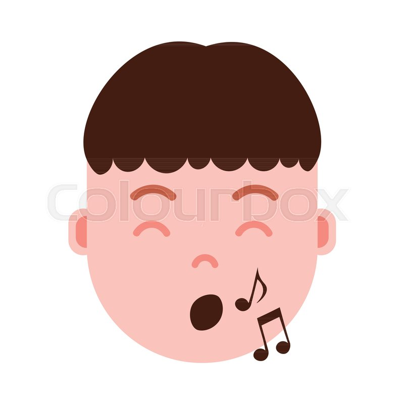 Boy head emoji personage icon with     | Stock vector