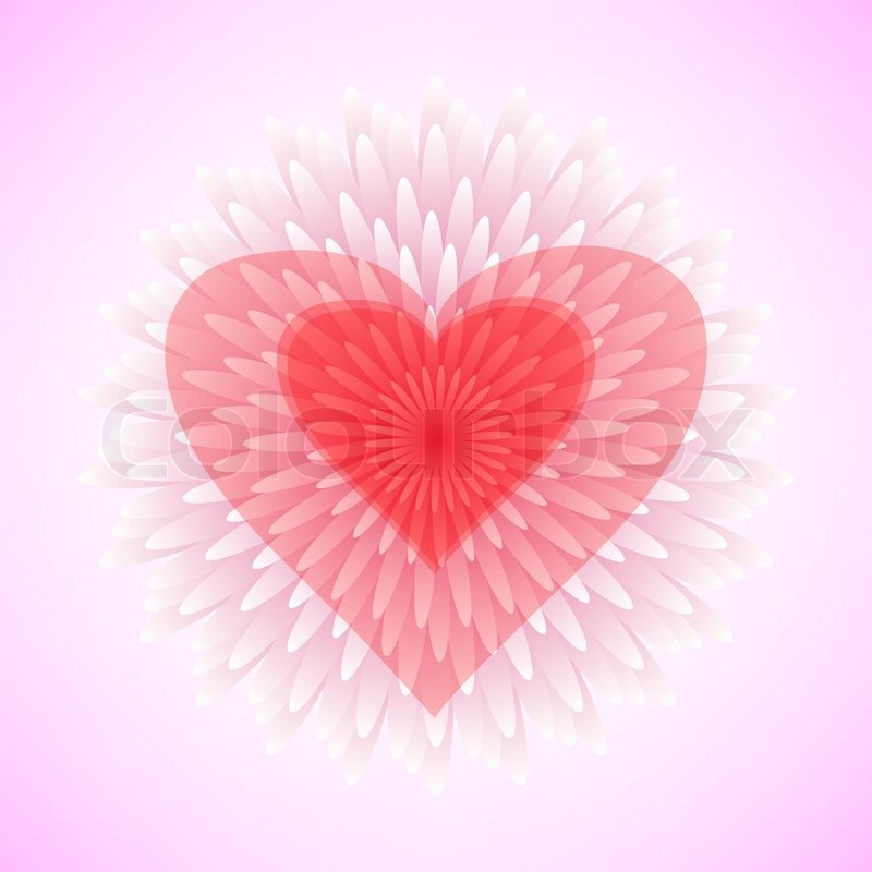 Flower heart as love symbol for valentine day. Abstract floral ...