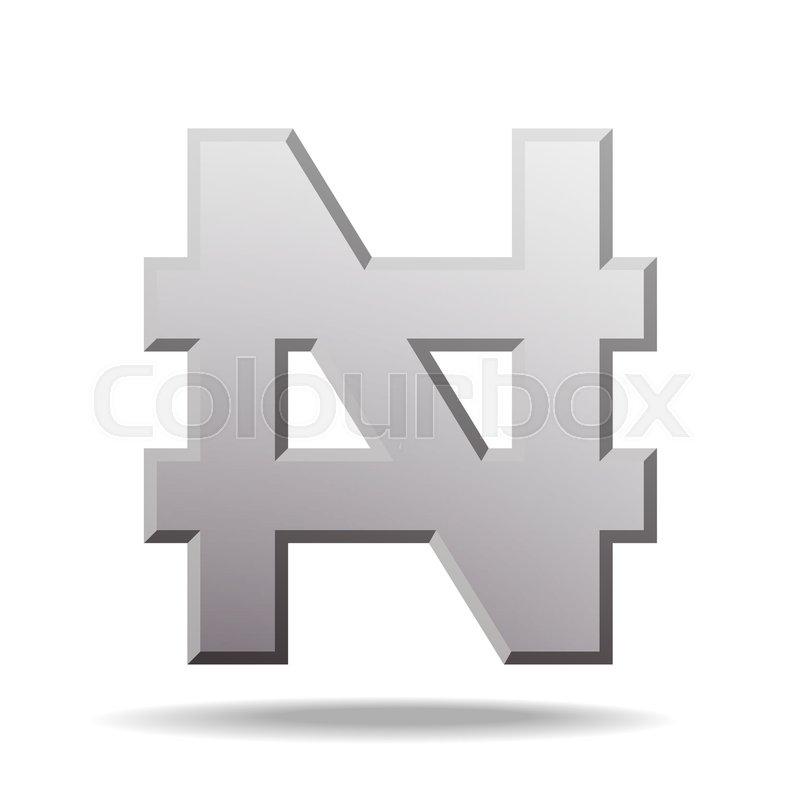 Naira Currency Sign Symbol Of Nigerian Monetary Unit Vector