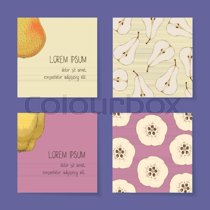 Square Business Cards Template Stock Vector Colourbox