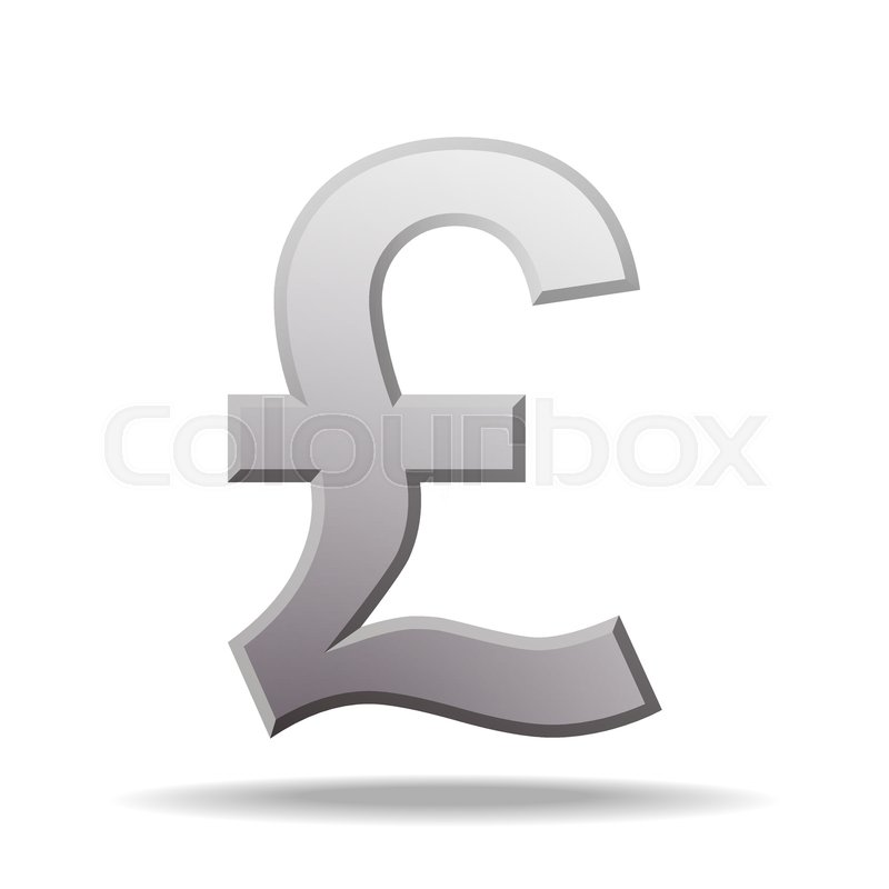 Pound Currency Symbol Vector Illustration Isolated On White