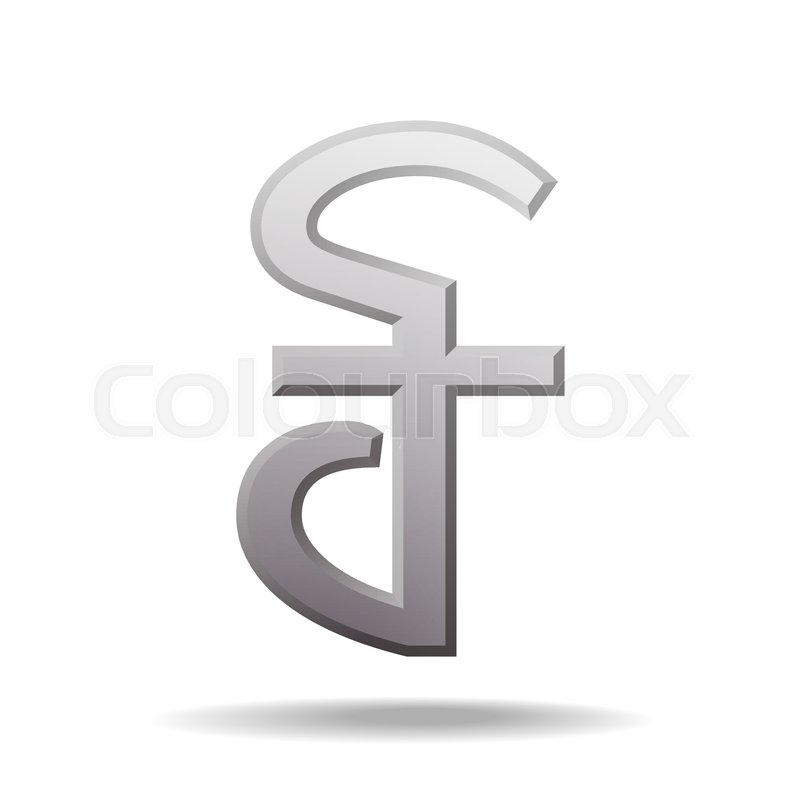 Cambodian Riel Currency Symbol Vector Illustration Isolated On