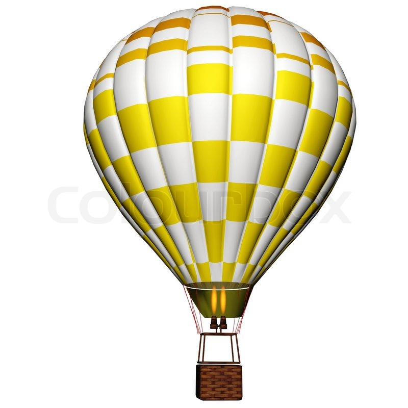Hot air balloon isolated on a white background | Stock ...