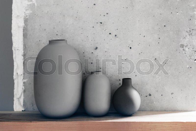 Home Interior Decor In Scandinavian Minimalistic Style Ceramic