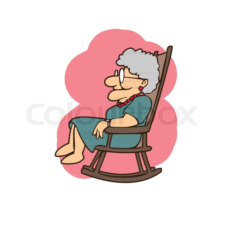 new styles 357aa cbeb8 Granny in a rocking chair cartoons | Stock vector | Colourbox
