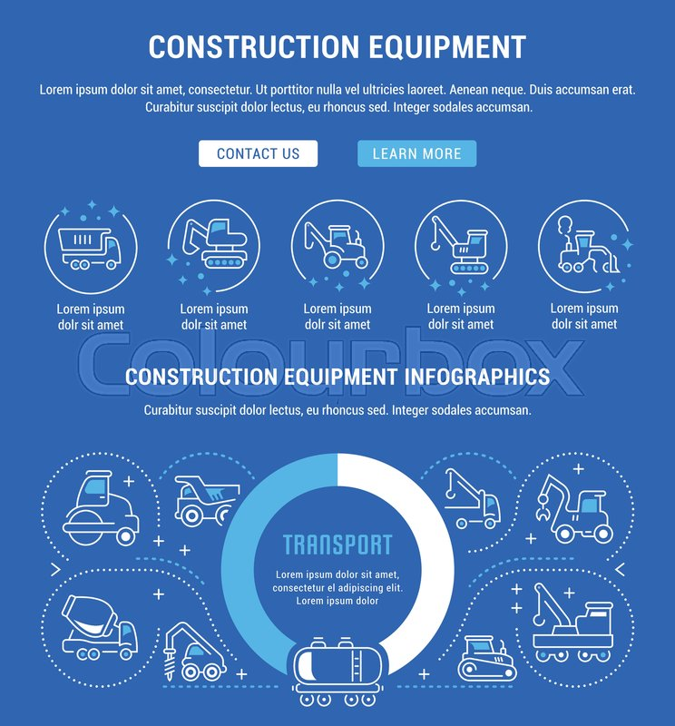 Construction Equipment Banners Hospital Management System Banners