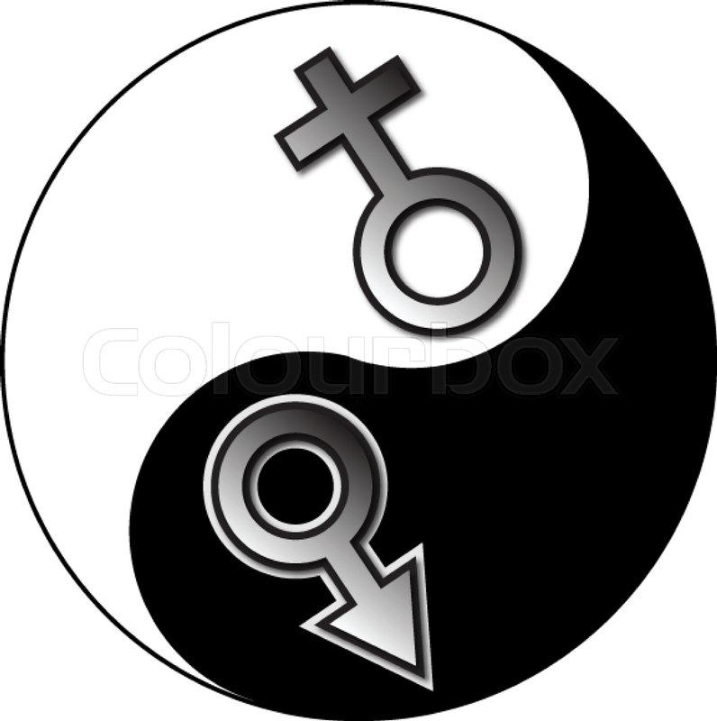 Yin Yang Male Female Symbol Stock Vector Colourbox