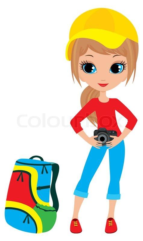 pretty girl with the camera stock photo colourbox rh colourbox com pretty french girl clipart pretty french girl clipart