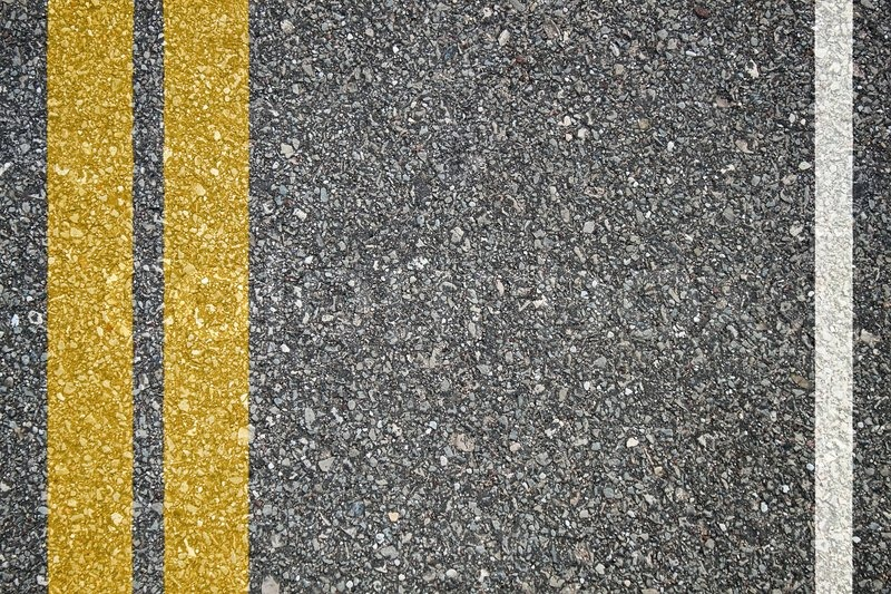 Pattern Of Asphalt Texture With Two Lines Stock Photo