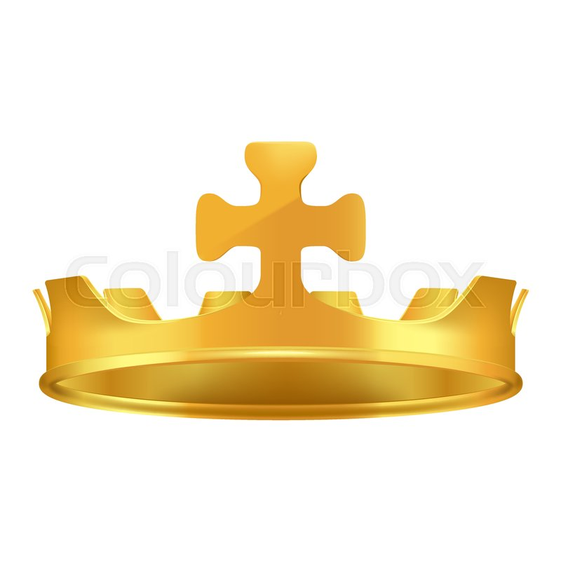 Golden Crown With Cross 3d Icon Shiny Kings Crown From Precious