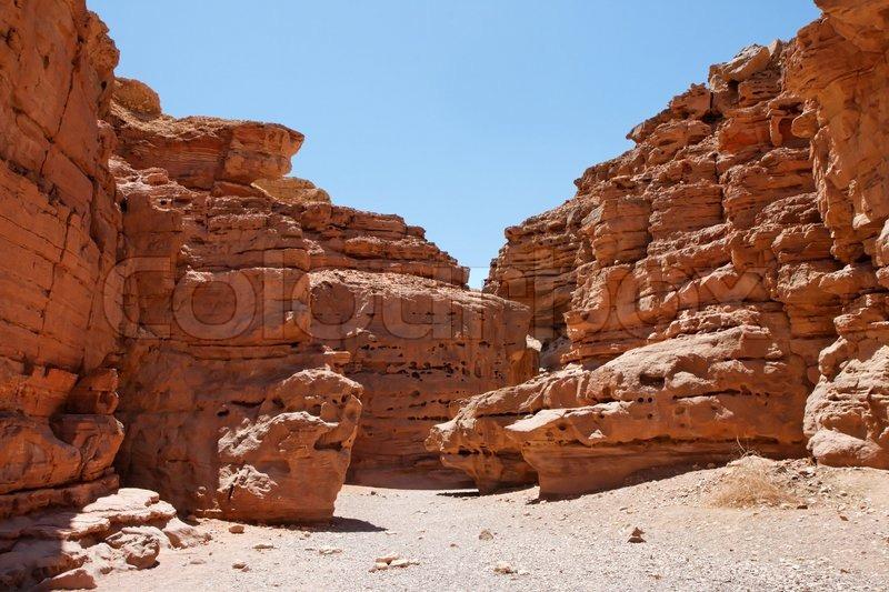 Desert Landscape Of Weatherd Red Rocks Stock Image Colourbox