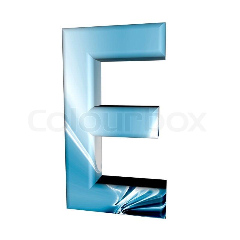 e Letter Logo 3d Letter e 3d Isolated on White