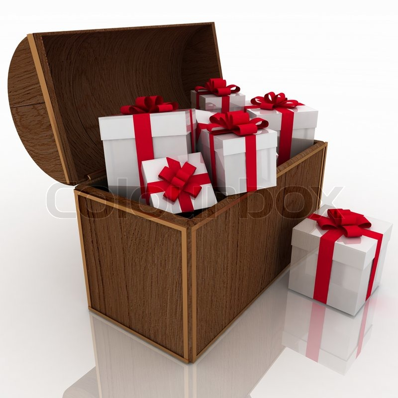 sc 1 st  Colourbox & Open treasure chest with gift boxes | Stock Photo | Colourbox Aboutintivar.Com