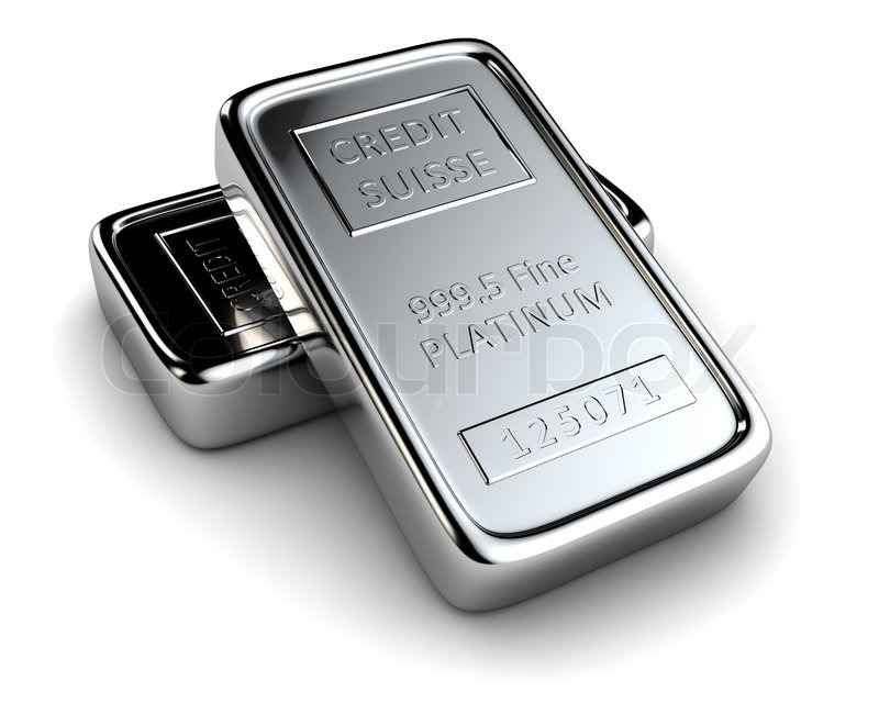 Two platinum ingots lie on each other | Stock Photo ...