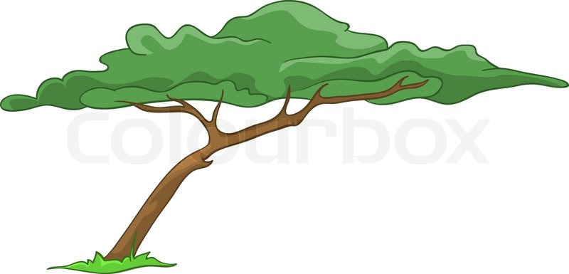 Tree Cartoon Background Cartoon Illustration Tree