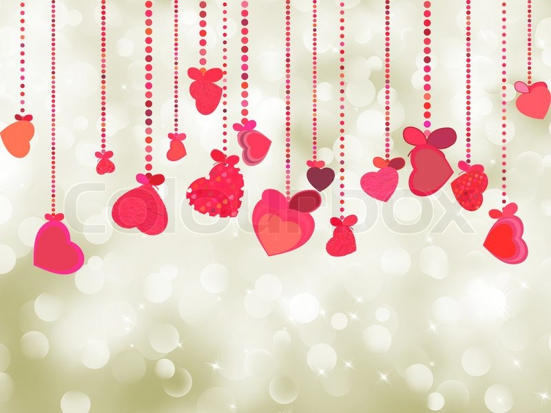 Valentine background of holiday lights with copyspace | Vector ...