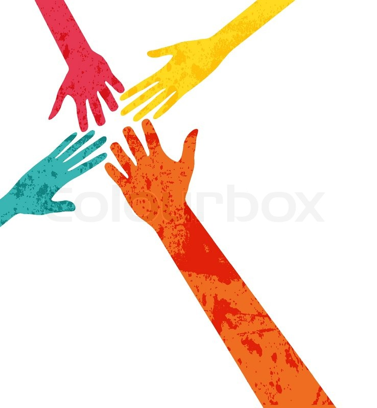 Hands Connecting Stock Vector Colourbox