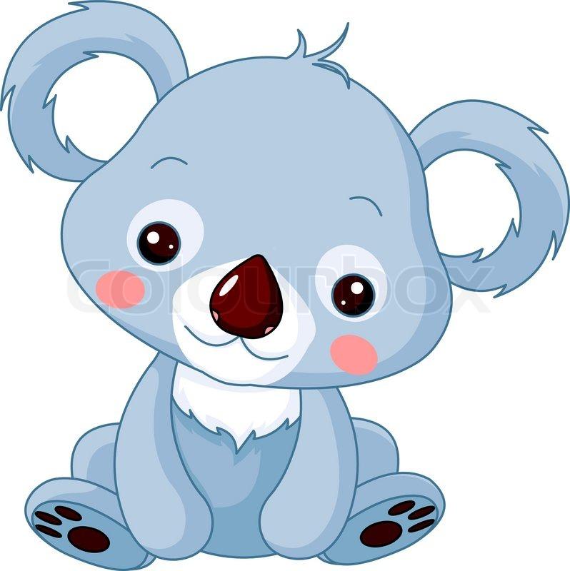 illustration of cute koala bear stock vector colourbox rh colourbox com  baby koala bear clipart