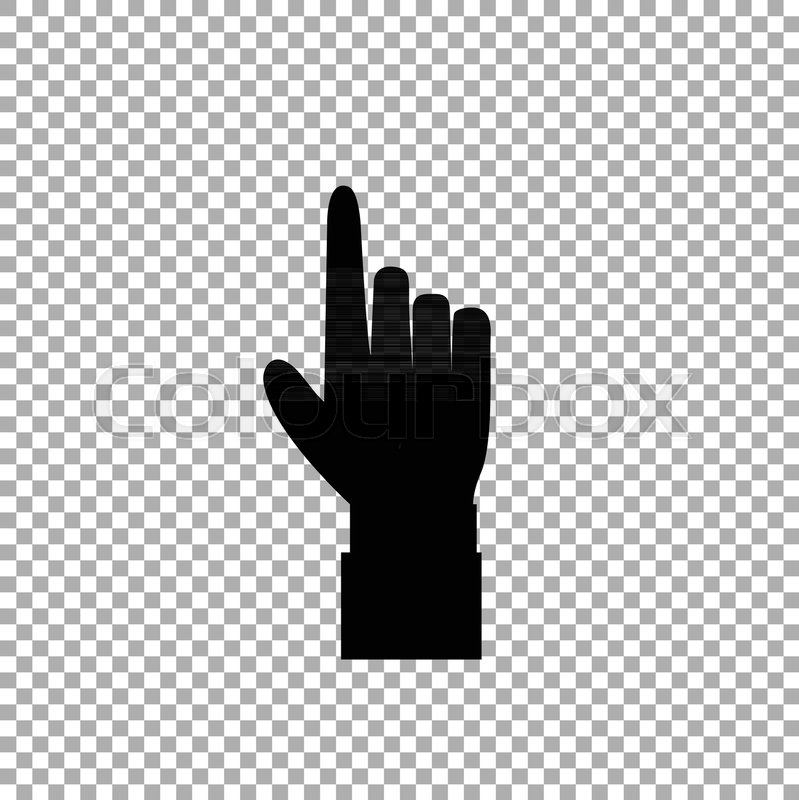 Hand Gesture With A Raised Index Finger Pointing Finger Icon