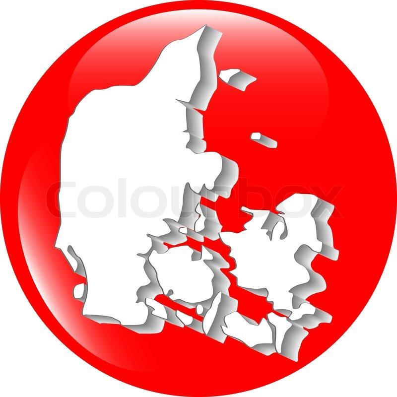Kort Over Danmark Fyldt Med Flag Af Stock Vektor Colourbox
