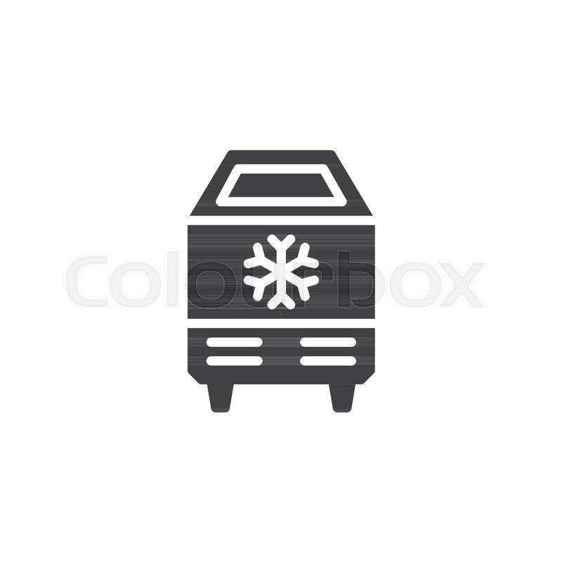 ice cream freezer vector icon filled stock vector colourbox ice cream freezer vector icon filled