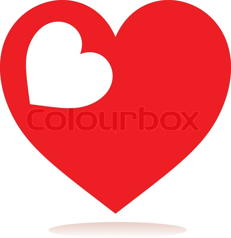 Heart Love Red Glossy Symbol Stock Vector Colourbox