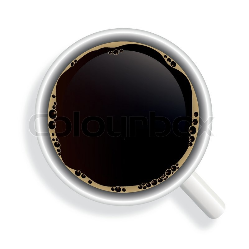 Simple Coffee Mug With Top View Black Cup On Decorating Ideas