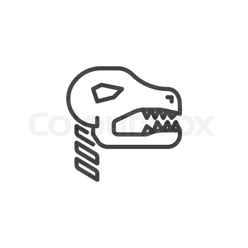 fossil dinosaur outline icon linear style sign for mobile concept