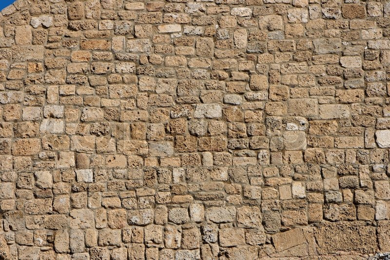 Ancient Stone Wall Texture Stock Photo Colourbox