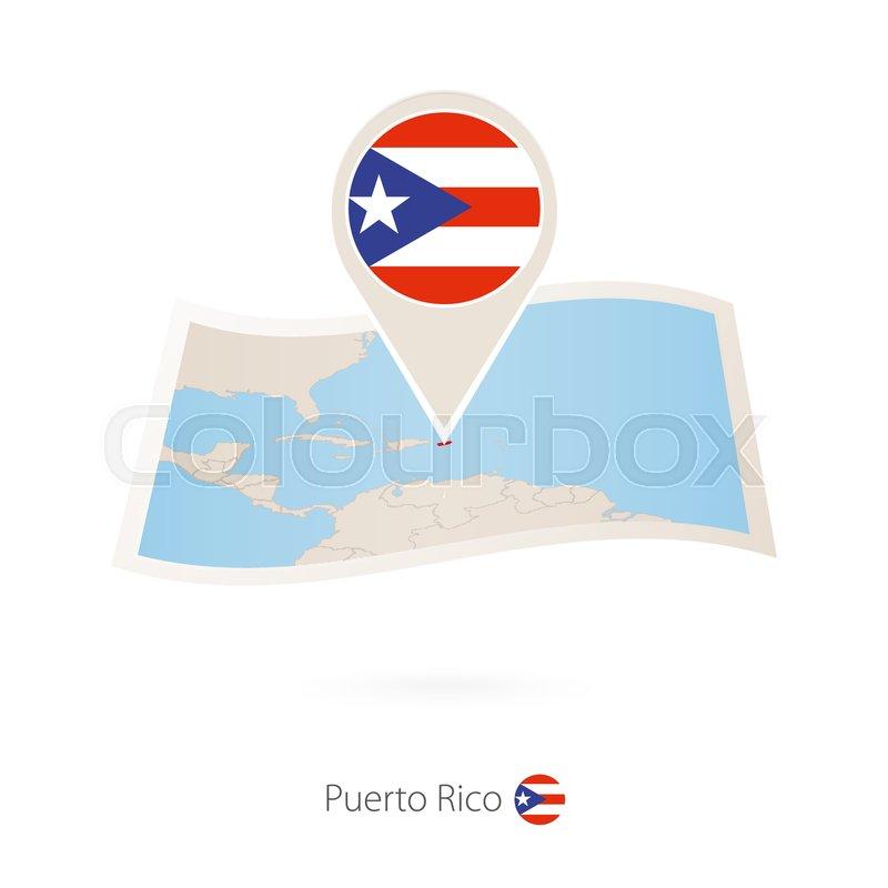 Puerto Rico Map Shape Square Tie Clip