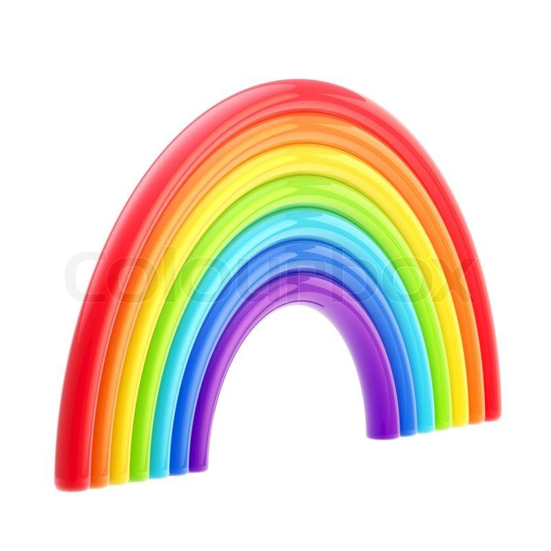 Symbolische Glänzend Sieben Farben Stockfoto Colourbox