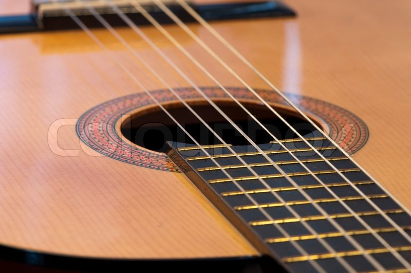 High Resolution Image Classical Acoustic Guitar Acoustic
