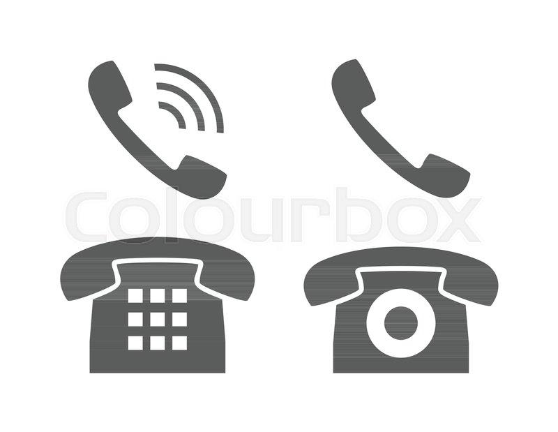 Phone Icon. Telephone Symbol. Isolated ...