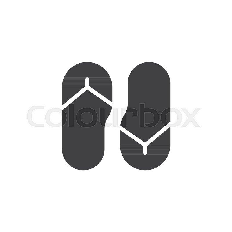 f66644b4b0a1b4 Flip flops vector icon. filled flat ...