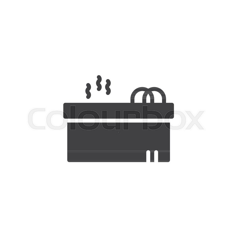 Hot jacuzzi tub vector icon. filled flat sign for mobile concept and ...