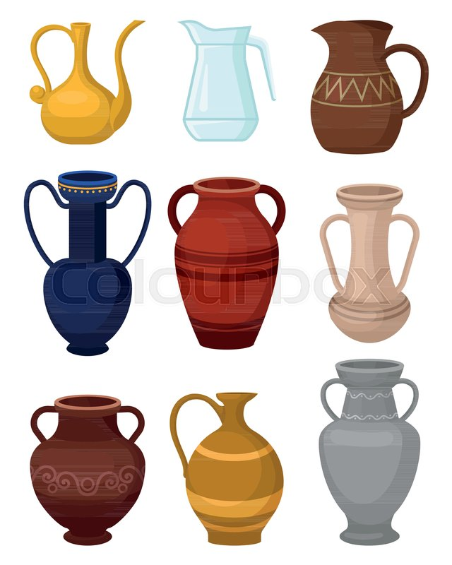 Collection Of Various Jugs Glass Pitcher For Water Antique Ceramic