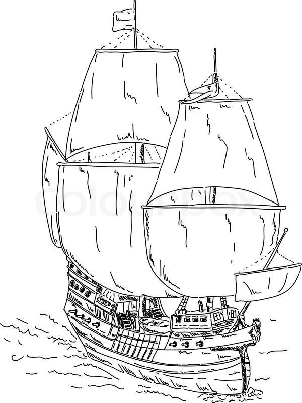 schiff zeichnen