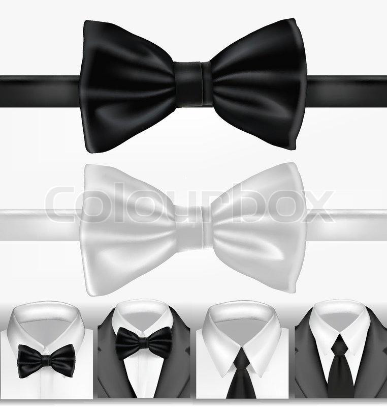 Schwarze Und Weisse Krawatte Vektorgrafik Colourbox