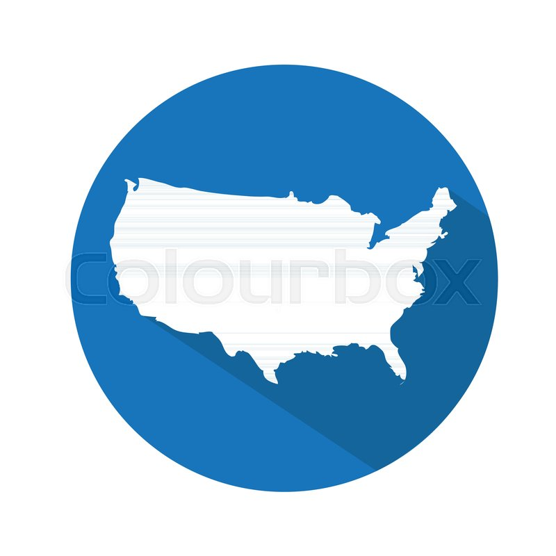 USA map icon | Stock Vector | Colourbox
