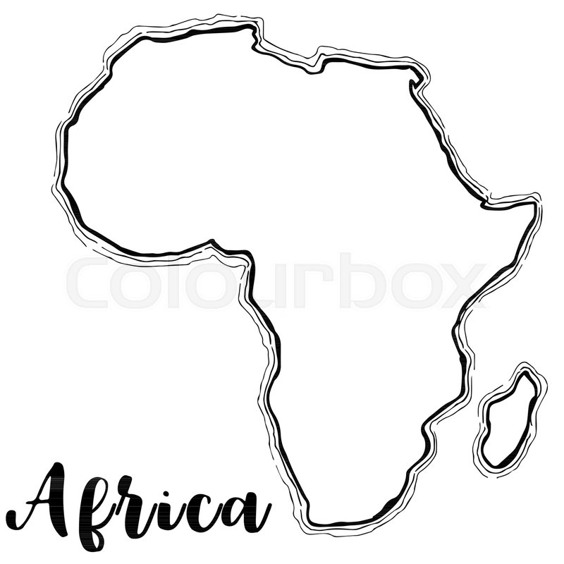 Africa Map Sketch Hand drawn Africa map sketch,vector  | Stock vector | Colourbox