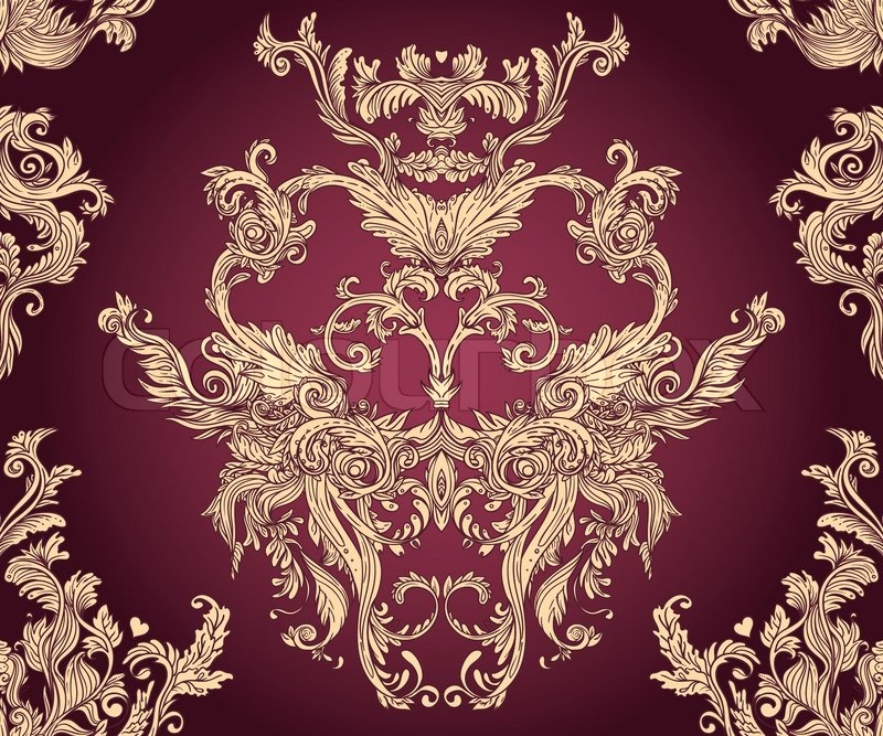 Vintage Vector Background For Textile Design Wallpaper