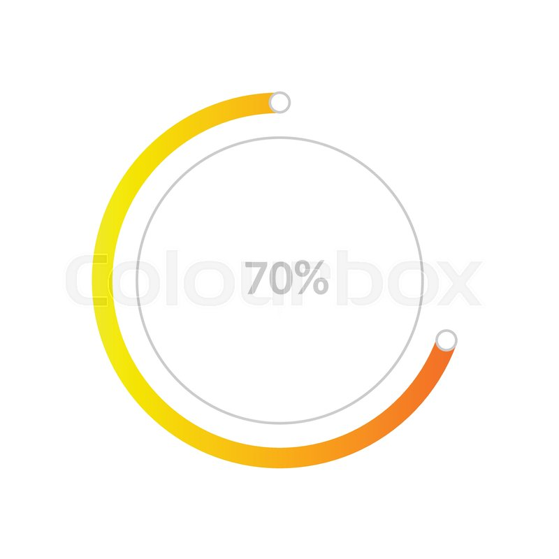 Business Pie Chart Infographic With Share Of 70 Percent For Reports