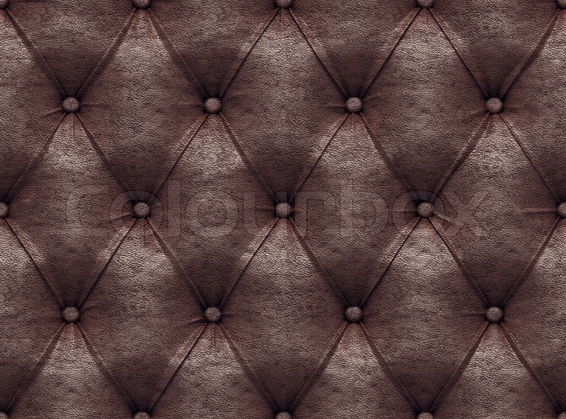 Seamless brown leather texture | Stock Photo | Colourbox