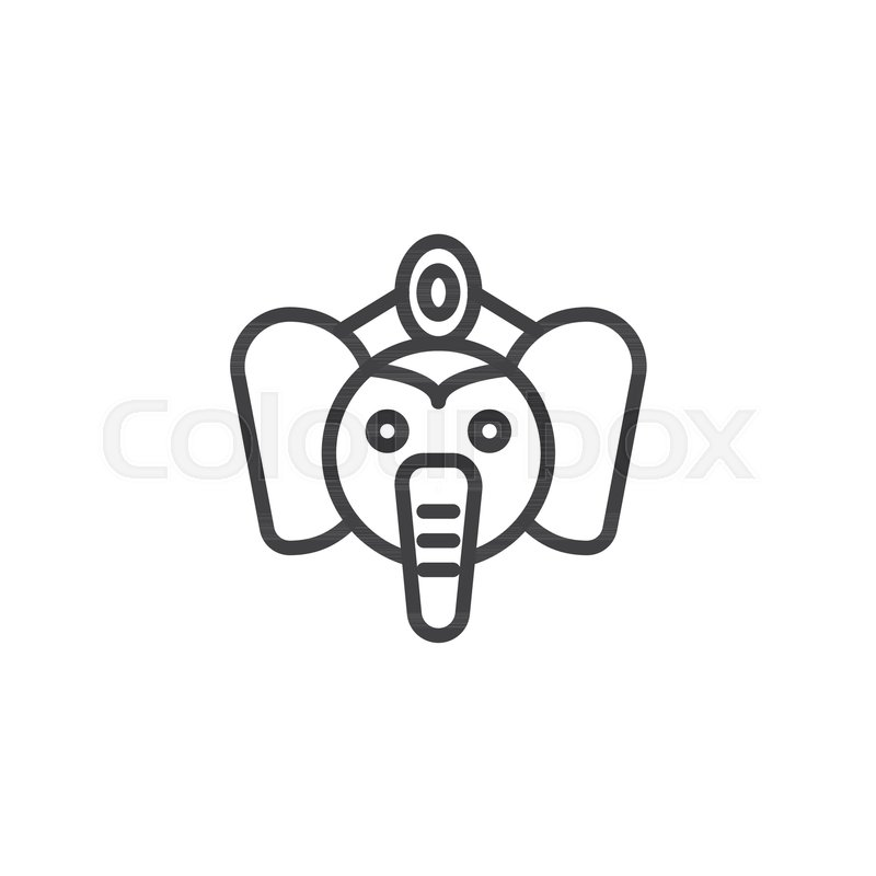 d0185435e00 Lord Ganesha outline icon. linear ...