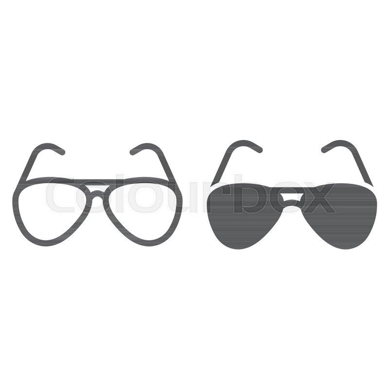 Sonnenbrille Symbol Vektorillustration Stock Vektor Art und mehr Bilder von Accessoires