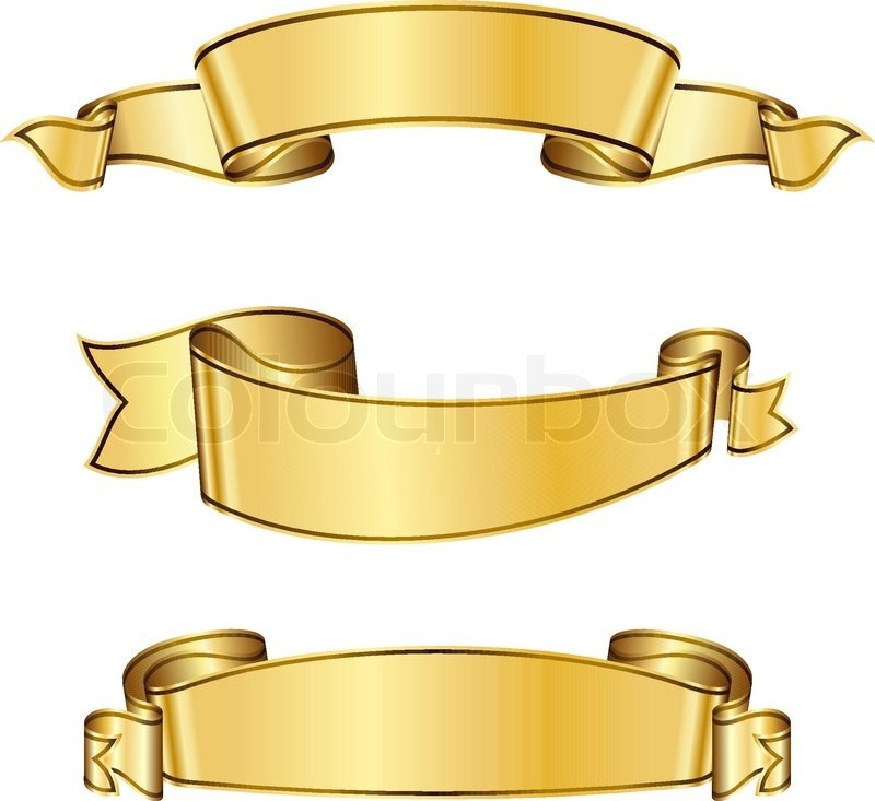 Gold Ribbon Banner Stock vector of 'gold ribbon