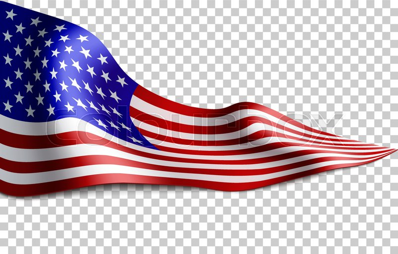 1f4663b90700 Long American flag on transparent ...